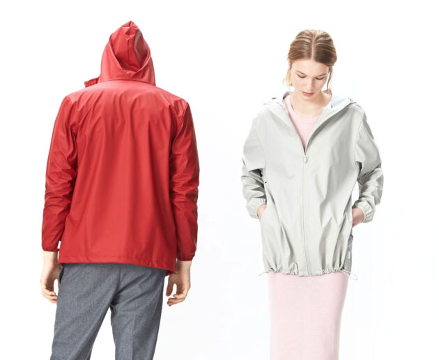 Base Jacket White and Red